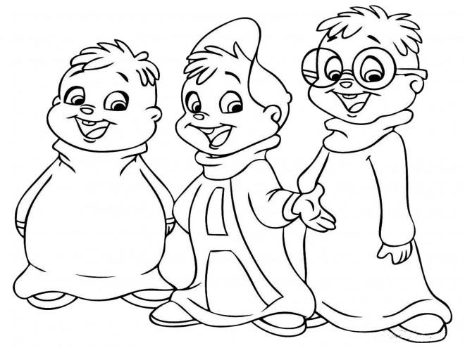 Coloriage chipmunks simple colorier dessin gratuit imprimer - Coloriage gratuit a imprimer alvin et les chipmunks ...