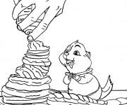 Coloriage Chipmunks théodore en ligne