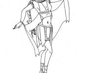 Coloriage et dessins gratuit Cleopatre danse à imprimer