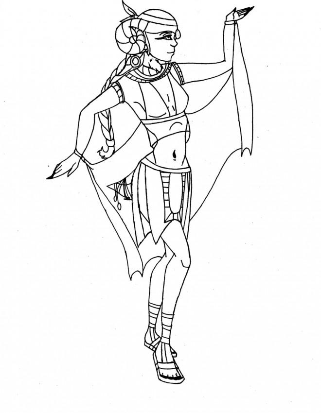 Coloriage et dessins gratuits Cleopatre danse à imprimer