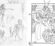 Coloriage et dessins gratuit Cleopatre la légende à imprimer