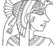 Coloriage et dessins gratuit Cleopatre La reine égystienne à imprimer