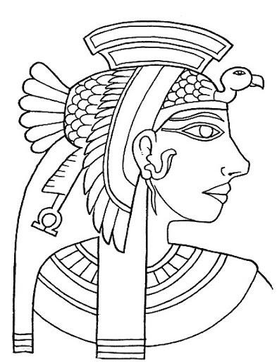 Coloriage et dessins gratuits Cleopatre La reine égystienne à imprimer