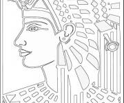 Coloriage et dessins gratuit Le dessin de Cleopatre à imprimer