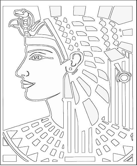 Coloriage et dessins gratuits Le dessin de Cleopatre à imprimer