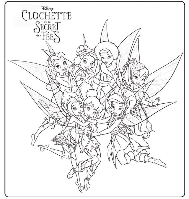 Coloriage clochette et le secret de f es dessin gratuit imprimer - Fee clochette a colorier ...