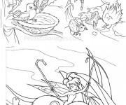 Coloriage et dessins gratuit Clochette et Les autres Fées à imprimer
