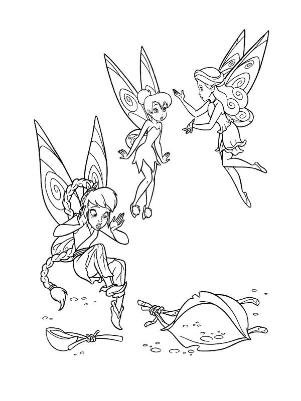 Coloriage f e clochette colorier dessin gratuit imprimer - Dessin anime de clochette ...
