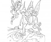 Coloriage dessin  Fee Clochette avec Noa et Ondine