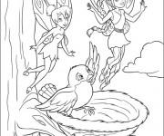Coloriage Fée Clochette et ses amis