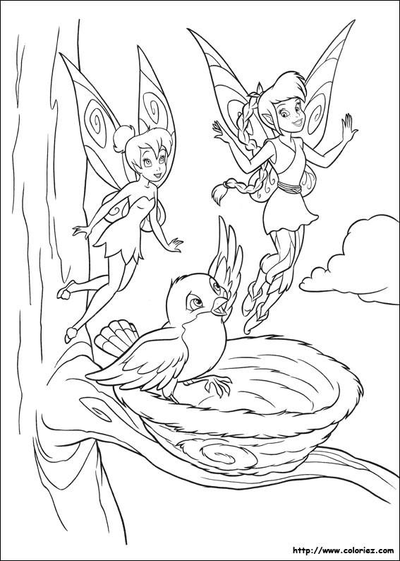 Coloriage et dessins gratuits Fée Clochette et ses amis à imprimer