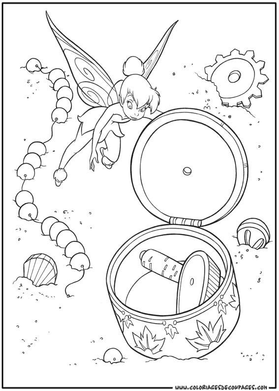 Coloriage et dessins gratuits Fée Clochette pour enfant à imprimer