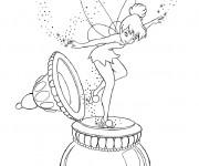 Coloriage dessin  Fee Clochette sur un couvercle