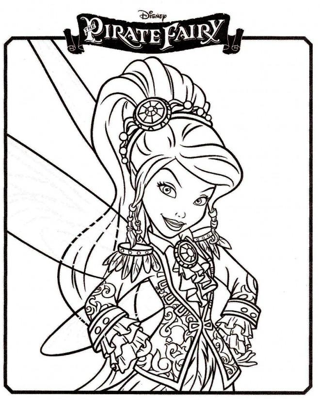 Coloriage et dessins gratuits La Fée Pirate à imprimer