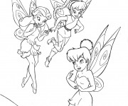 Coloriage dessin  Noa, Ondine et Clochette
