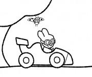 Coloriage Didou conduit sa voiture