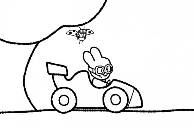 Coloriage et dessins gratuits Didou conduit sa voiture à imprimer