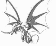 Coloriage et dessins gratuit Dragon d'acier à imprimer
