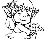 Coloriage Petite Fille Didou