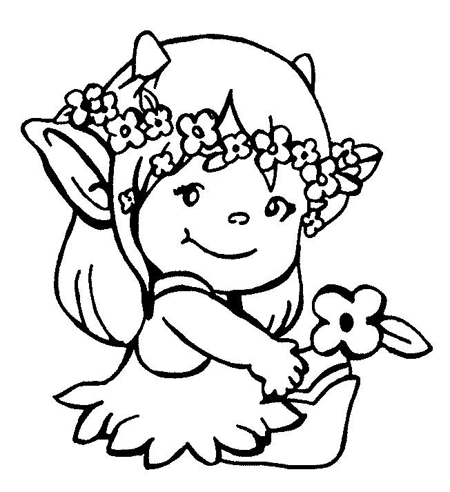 Coloriage et dessins gratuits Petite Fille Didou à imprimer