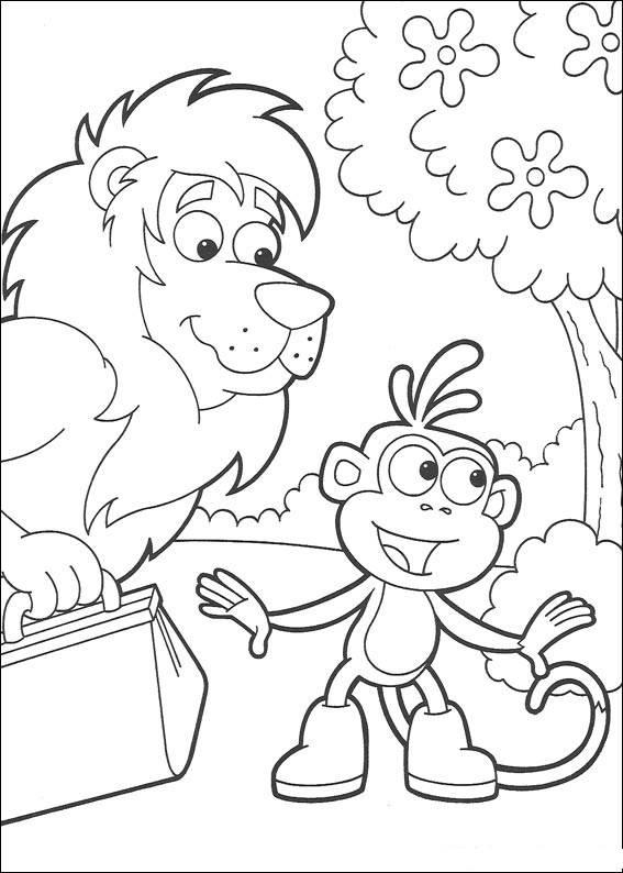 Coloriage et dessins gratuits Babouche et le lion à imprimer