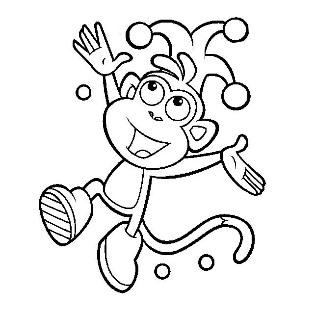 Coloriage et dessins gratuits Babouche le jocker à imprimer