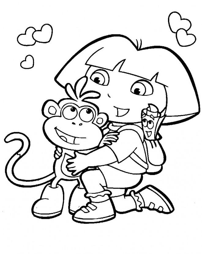 Coloriage dessin de dora dessin gratuit imprimer - Image de dessin anime gratuit ...