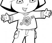 Coloriage dessin  Dora 11