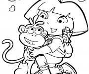 Coloriage dessin  Dora 13