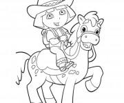 Coloriage dessin  Dora 17