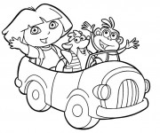 Coloriage dessin  Dora 2