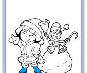 Coloriage dessin  Dora 6