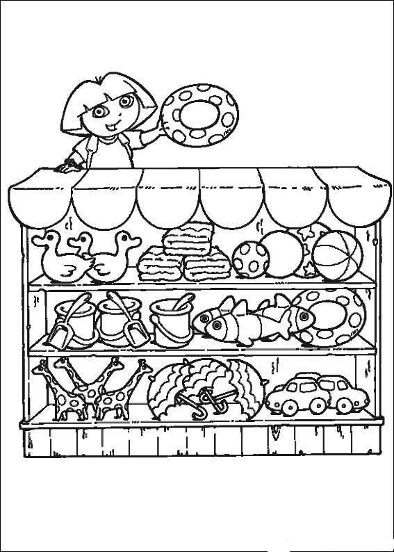 Coloriage et dessins gratuits Dora à imprimer gratuitement à imprimer