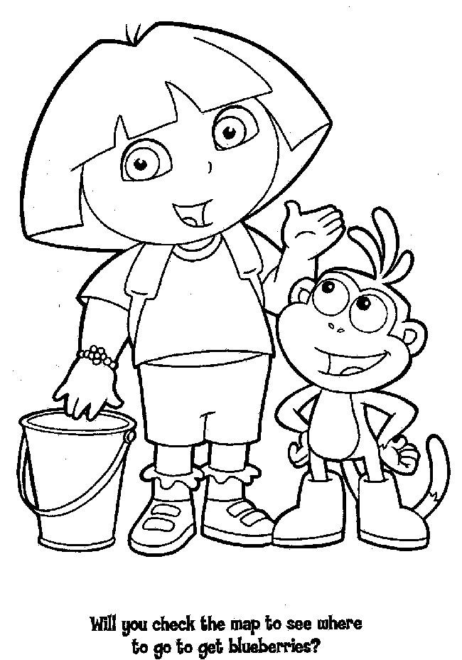 Coloriage et dessins gratuits Dora a une idée à imprimer