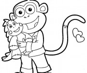 Coloriage Dora: Babouche sourit