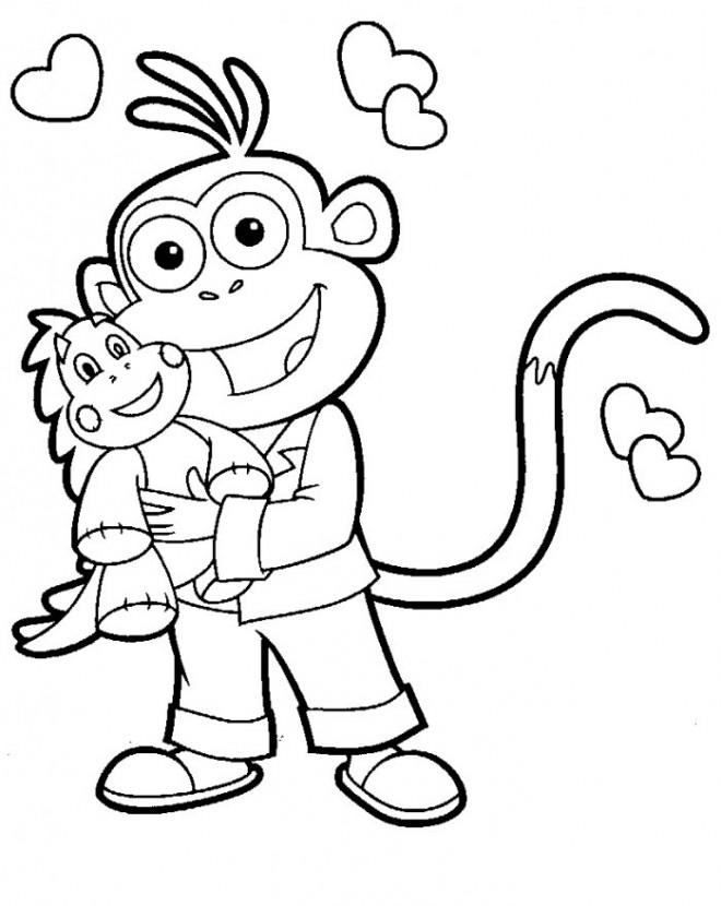 Coloriage dora babouche sourit dessin gratuit imprimer - Dessin de dora ...