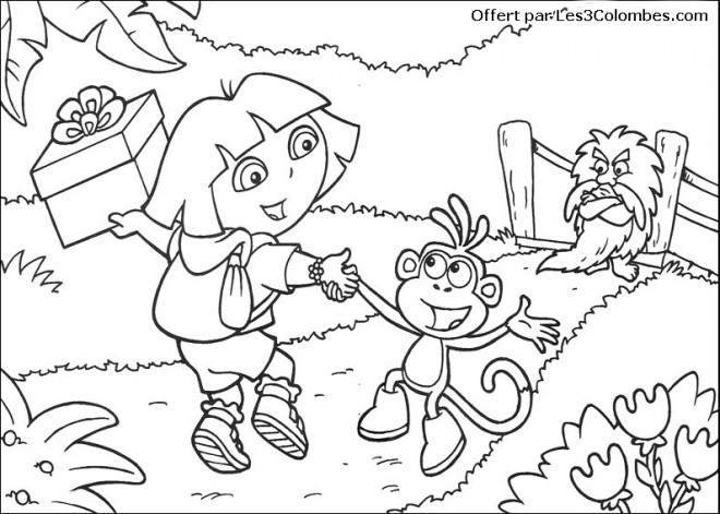 Coloriage dora danseuse dessin gratuit imprimer - Dessin anime dora exploratrice gratuit ...