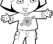 Coloriage et dessins gratuit Dora en ligne à imprimer