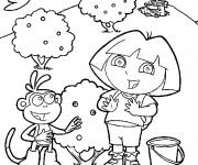 Coloriage Dora et Babouche en ligne