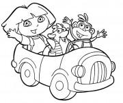 Coloriage Dora et ses amis