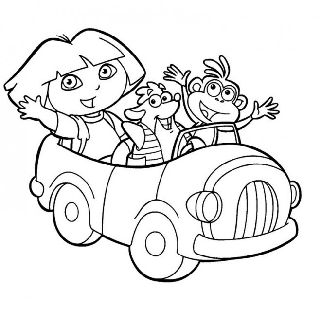 Coloriage dora et ses amis dessin gratuit imprimer - Dessin anime dora exploratrice gratuit ...