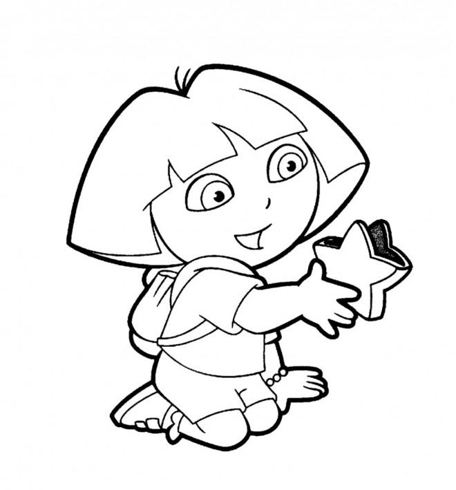 Coloriage Dora Gratuit Dessin Gratuit A Imprimer