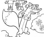 Coloriage Dora gratuit à imprimer