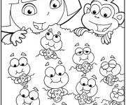 Coloriage Dora imprimer