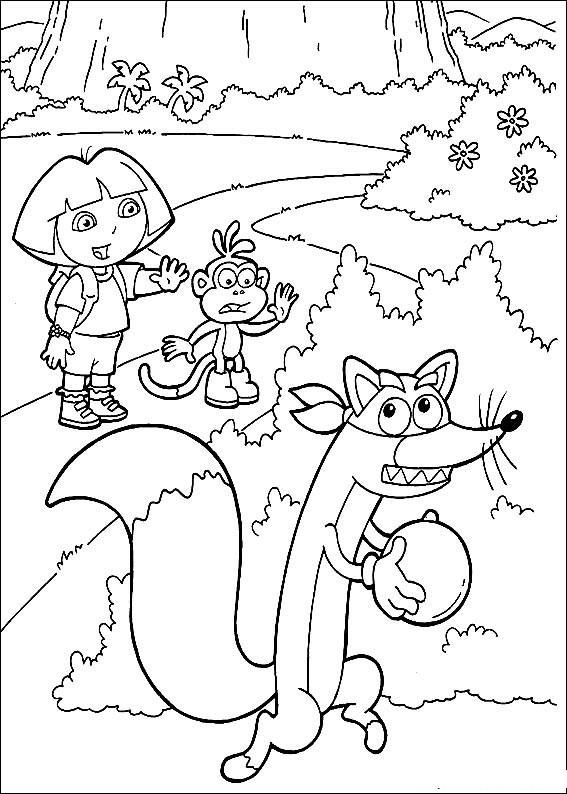Coloriage Dora gratuit à imprimer liste 80 à 100