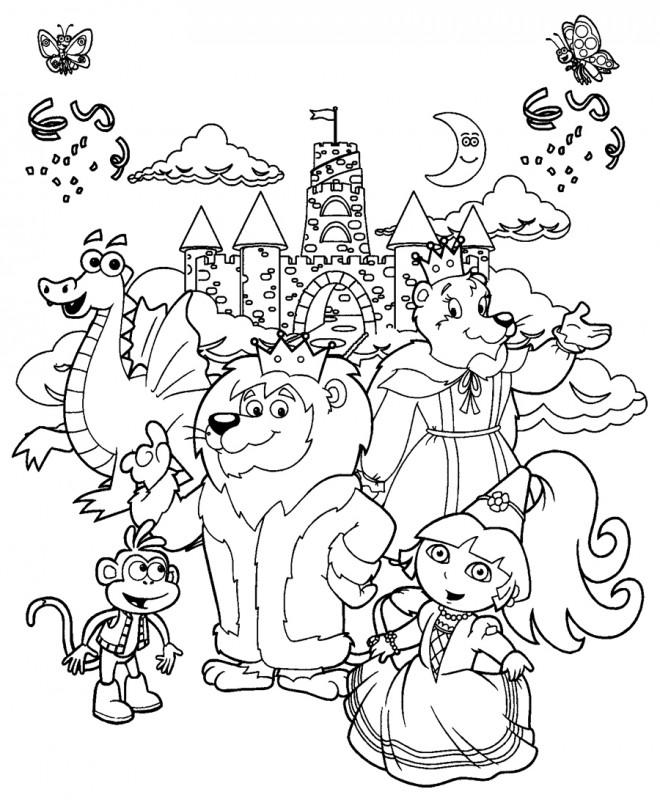 Coloriage Dora La Princesse Dessin Gratuit A Imprimer