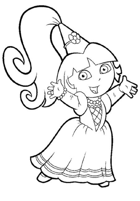 Coloriage dora princesse dessin gratuit imprimer - Coloriage dora gratuit a imprimer ...