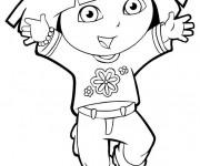 Coloriage Dora simple