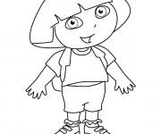 Coloriage Dora simple à colorier