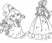 Coloriage La princesse Dora